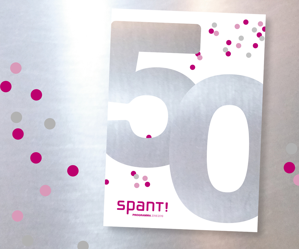 Spant 50 jaar theater brochure