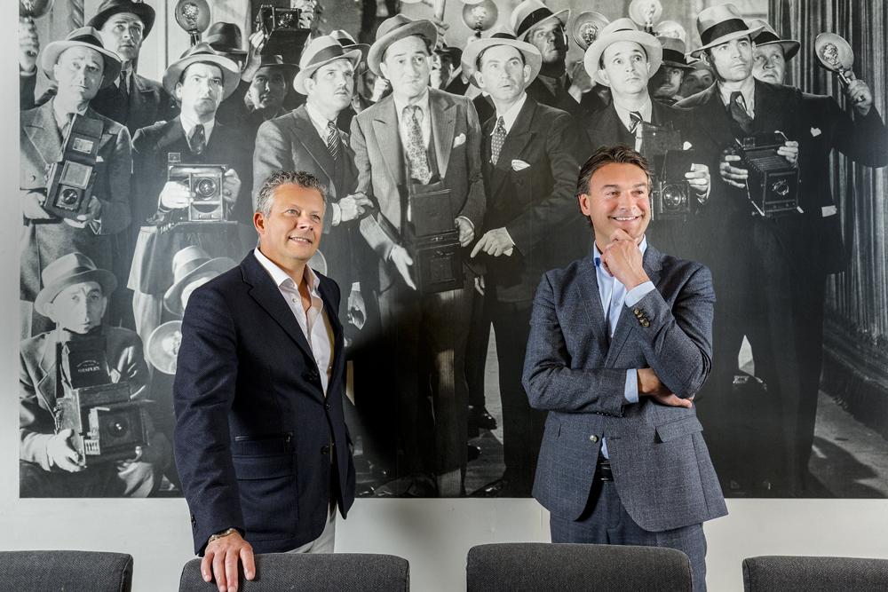 Paul Han en Bert in gesprek